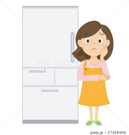 お母さん 冷蔵庫 イラスト 27369409