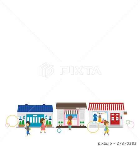 ショッピングのセット【フラット人間・シリーズ】 27370383