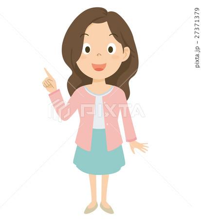 若い女性 イラスト 27371379