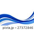 波 ウェーブ 流れのイラスト 27372846