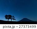 羊蹄山と双子の木の夜空_北海道ニセコの満天の星空 27373499
