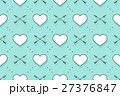 Seamless pattern with hearts and arrows on a 27376847