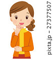 女性ポーズ 主婦 表情 27377507