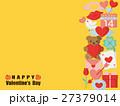 バレンタイン カラフルアイコンのカード 27379014