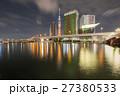ビル群 街並み 夜の写真 27380533