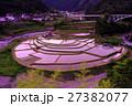 あらぎ島 棚田 水田の写真 27382077
