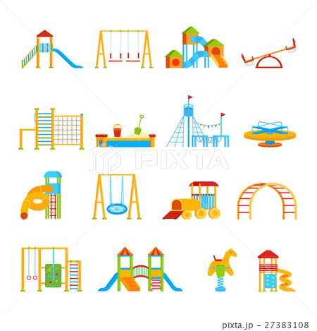 Playground Equipment Icon Set 27383108