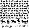 people riding horses silhouettes collection 27389853