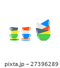 Clean cups and dishware vector illustration. 27396289