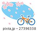 春 桜吹雪 サイクリング MTB 27396338