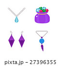 Set of cartoon jewelry accessories vector. 27396355