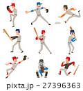 Baseball player vector icon. 27396363