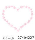 ハート 桜 フレームのイラスト 27404227