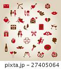 バレンタイン アイコン バレンタインデーのイラスト 27405064