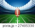 American football on field of stadium. 27405330