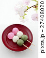 三色団子 団子 桜の写真 27408020