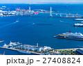 【神奈川県】ベイブリッジと横浜港 27408824
