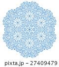 Pretty Vector Round Snowflake 27409479
