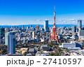 東京タワーと都市風景 27410597