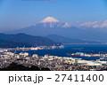 【静岡県】富士山と清水市の街並み 27411400