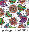 seamless pattern with bird and heart in the style 27412057