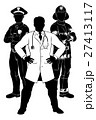 Emergency Workers Team Silhouettes 27413117