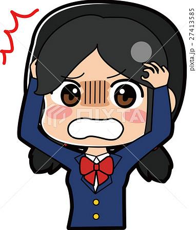 ショックを受ける女子学生のイラスト 27413585