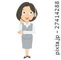 女性 オペレーター 全身 イラスト 27414288