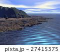 岩礁帯の海 青空 27415375