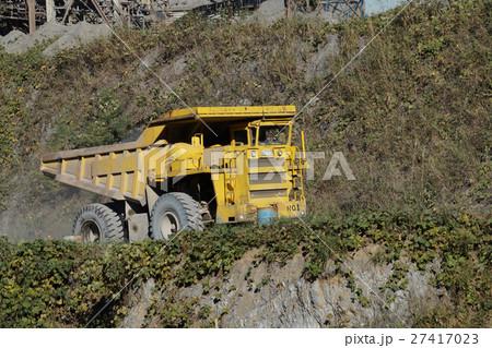 ダンプ、働くクルマ、50トン、運送、重機、作業車 27417023