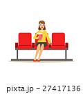 女性 ポップコーン めがねのイラスト 27417136