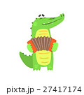 Crocodile Playing Accordion, Humanized Green 27417174