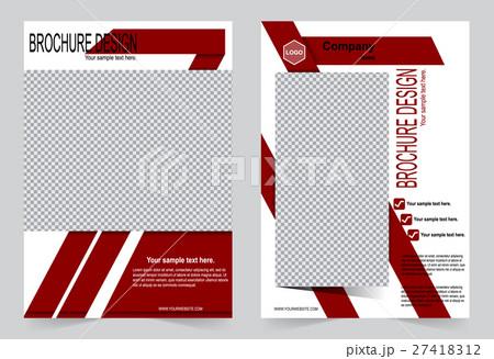 Brochure template, Flyer design red color templateのイラスト素材 [27418312] - PIXTA