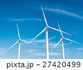 Wind turbine on blue sky 27420499