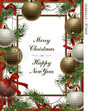 merry christmas template designのイラスト素材 27428930 pixta
