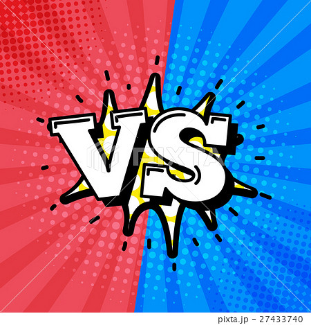 Versus Letters or VS Logo Vector Emblems のイラスト素材 [27433740 ...
