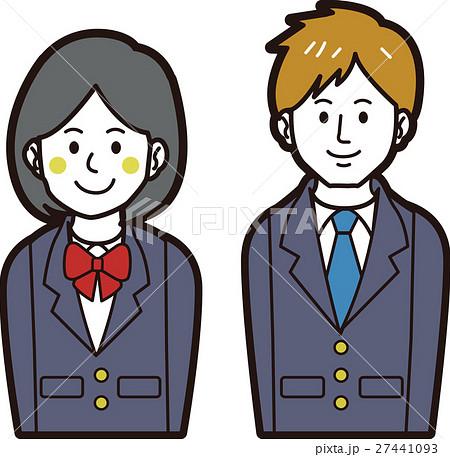 ブレザーの男子学生と女子学生 27441093