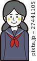 女の子 ベクター 中学生のイラスト 27441105