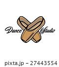 Color vintage dance studio emblem 27443554