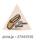 Color vintage dance studio emblem 27443556