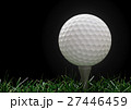 Golf ball  with tee in the grass 27446459