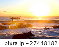 大洗海岸 海 鳥居の写真 27448182