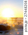 大洗海岸 海 鳥居の写真 27448208