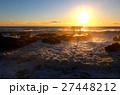 大洗海岸 朝日 日の出の写真 27448212