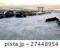 大洗海岸 海 白波の写真 27448954