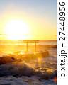 大洗海岸 海 鳥居の写真 27448956