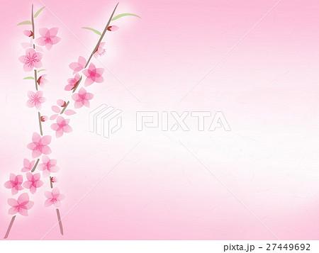 桃の花 イラスト 背景のイラスト素材 27449692 Pixta