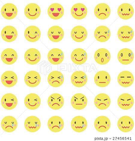 黄色い顔の表情パターン アイコンのイラスト素材 27456541 Pixta