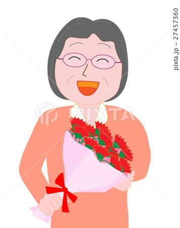 母の日に感謝の花束を贈る 27457360