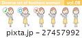 黄色いスカートをはいたビジネスウーマンのイラストvol.08 27457992